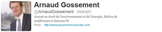 Arnaud Gossement - Twitter