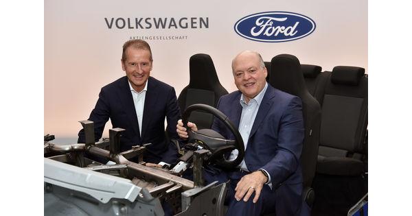 Ford et Volkswagen resserrent leurs liens et étendent leur collaboration sur l'autonome, l'électrique et l'utilitaire