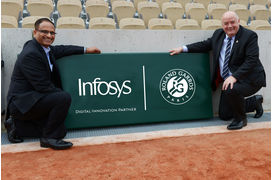 Data, intelligence artificielle... Infosys mène la transformation digitale de Roland-Garros
