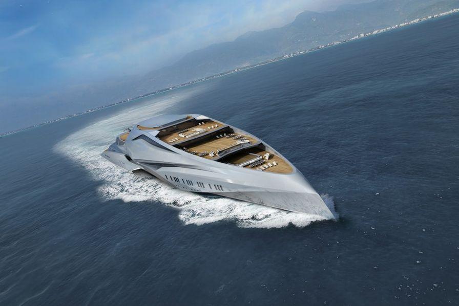 le plus grand yacht du monde des milliers de tesla un. Black Bedroom Furniture Sets. Home Design Ideas