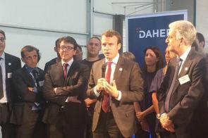 Emmanuel Macron chez Daher, première vitrine de l'industrie du futur