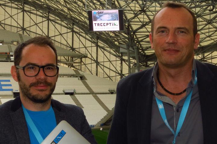 Fabien Amico, directeur R&D, et Arnaud Lambert, président de Treeptik, ont organisé et structuré le premier