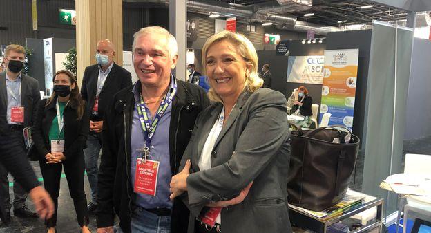 """[Marine Le Pen promet """"un crédit d'impôt péage"""" aux transporteurs français et dévoile ses ambitions dans l'hydrogène] - Usine Nouvelle"""