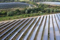 Ferme solaire de Marcoussis en Essonne.