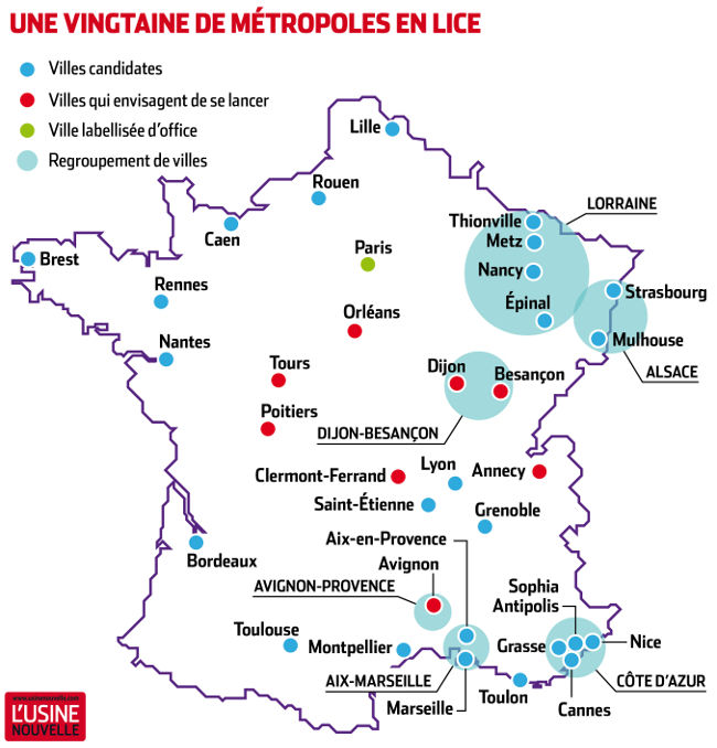 Carte De France Repere Avec Les Plus Grande Villes