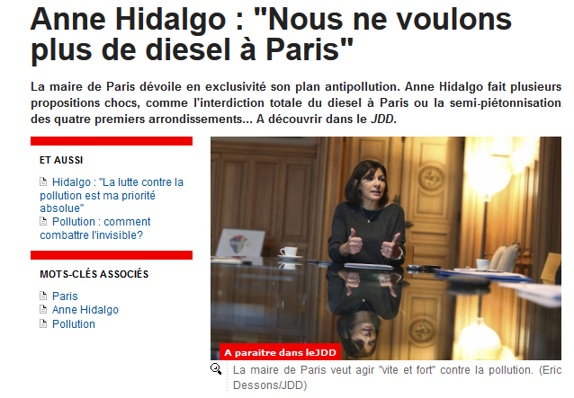 le plan antipollution d 39 anne hidalgo valls fait le point les investissements chinois en france. Black Bedroom Furniture Sets. Home Design Ideas