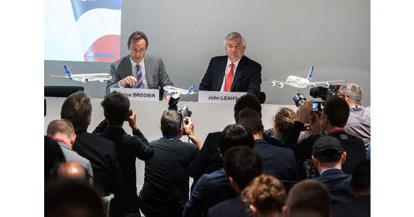 Airbus un succ s commercial port par toute la gamme for Porte m salon du bourget