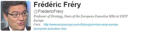 Frédéric Fréry - Compte Twitter
