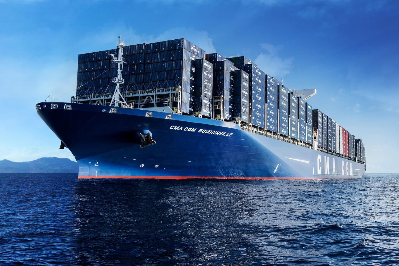 le porte conteneurs bougainville le plus grand navire de la compagnie fran aise cma cgm. Black Bedroom Furniture Sets. Home Design Ideas