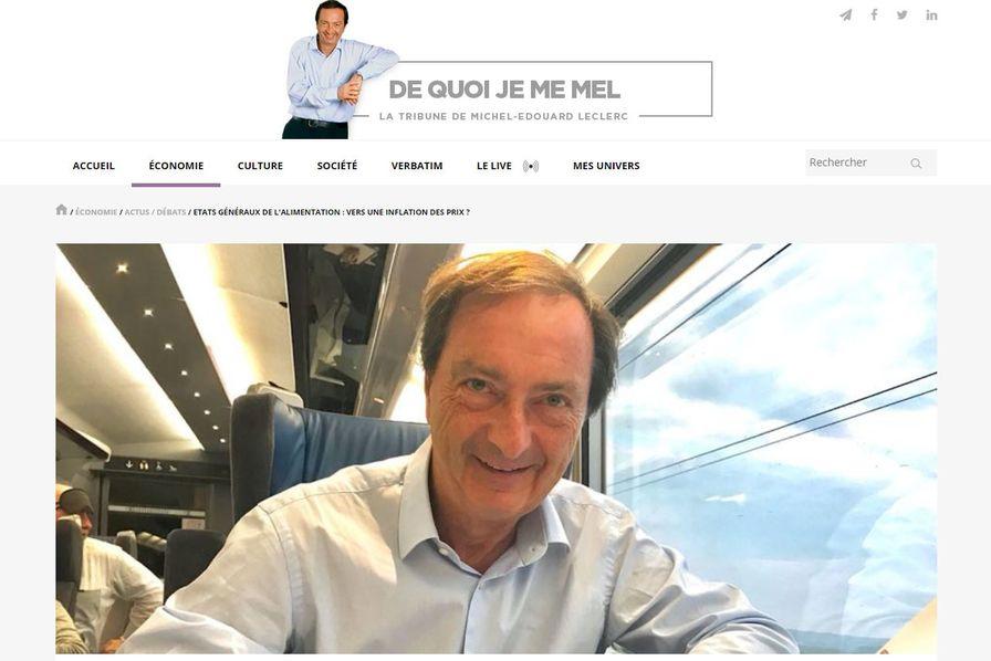 L'industrie agroalimentaire contre-attaque face à Michel-Edouard Leclerc