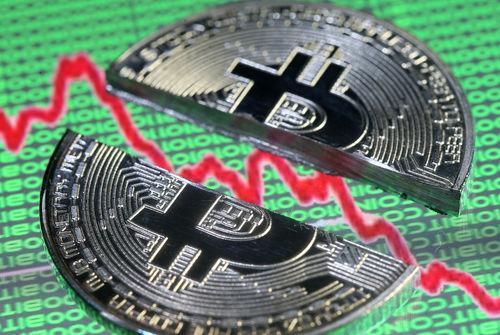 Le bitcoin à 10.000 dollars, 50% sous son pic de décembre