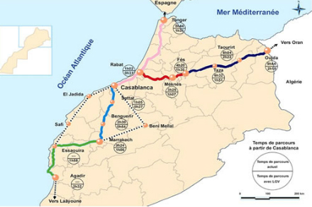 Plan schéma directeur TGV Maroc
