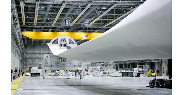 Cherbourg accueille une usine de pales d'éoliennes géantes