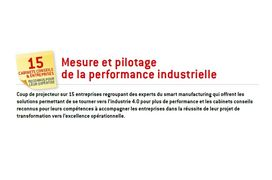 Industrie 4.0 : 15 acteurs experts de la mesure et du pilotage de la performance industrielle