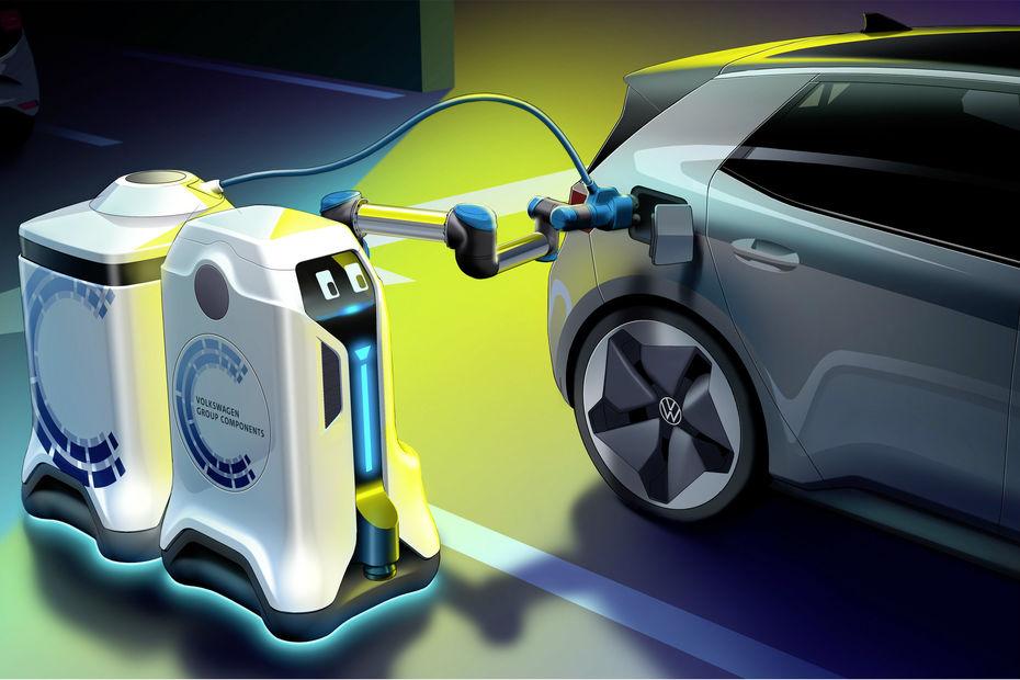 Des robots autonomes pour recharger les VW électrifiées !