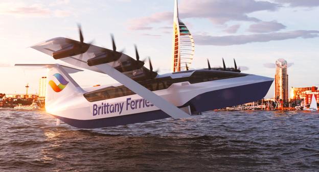[Un projet d'hydroplaneur pour traverser la Manche en 40 minutes] - Usine Nouvelle