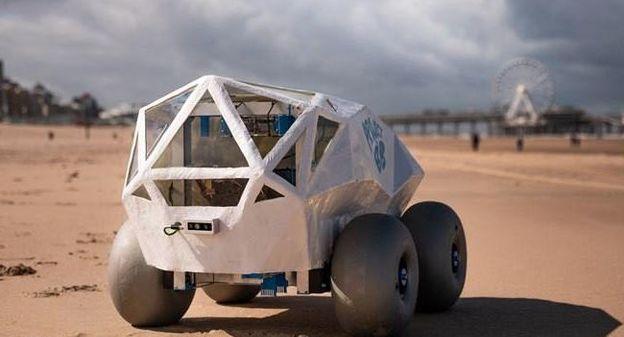 [[Vidéo] Un robot dopé à l'IA pour ramasser les mégots sur les plages ] - Usine Nouvelle