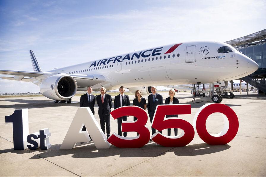 Air France reçoit son premier Airbus A350, il est baptisé