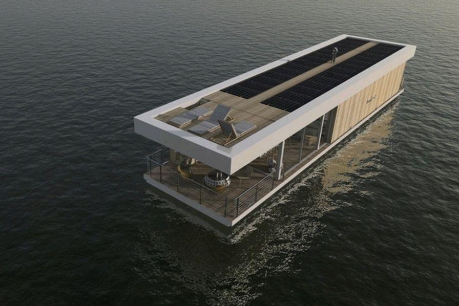 photo boathome la p niche qui pourrait vous donner envie de vivre sur l 39 eau nautisme. Black Bedroom Furniture Sets. Home Design Ideas