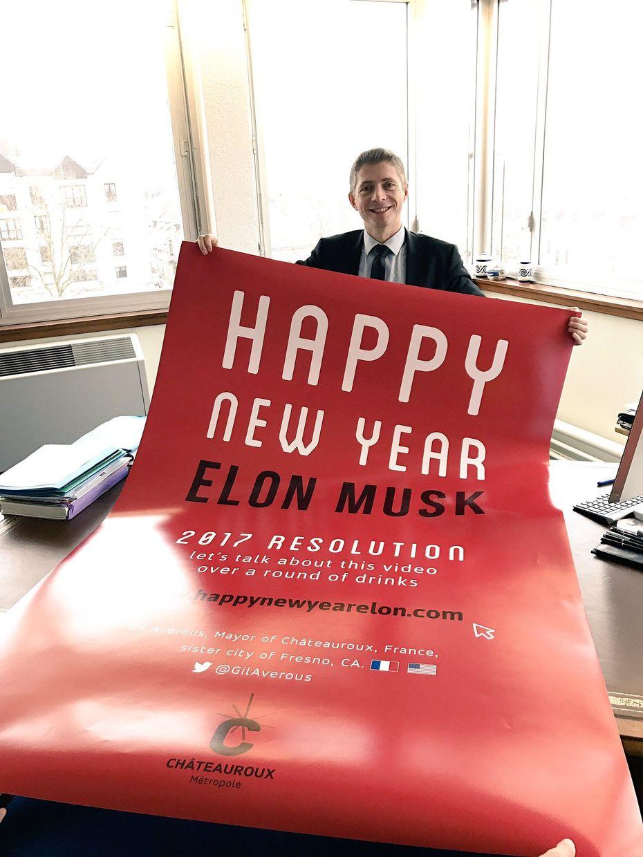 Le Maire De La Prfecture LIndre A Mme Envoy Une Carte Voeux Un Peu Spciale Elon Musk