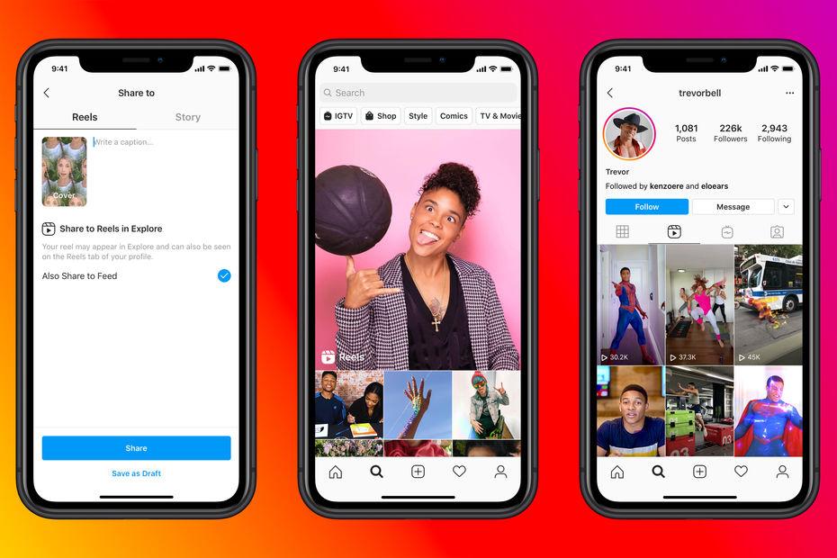 Facebook lance Reels sur Instagram pour concurrencer TikTok