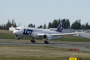 Boeing 787 LOT, vol d'essai le 25 mars 2013