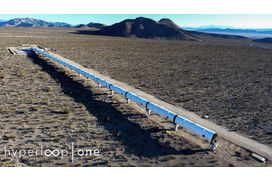 [Photo] Hyperloop One dévoile les premières images de son tunnel DevLoop