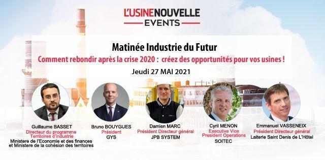 Intervenants à la matinée Industrie du futur du 27 mai 2021