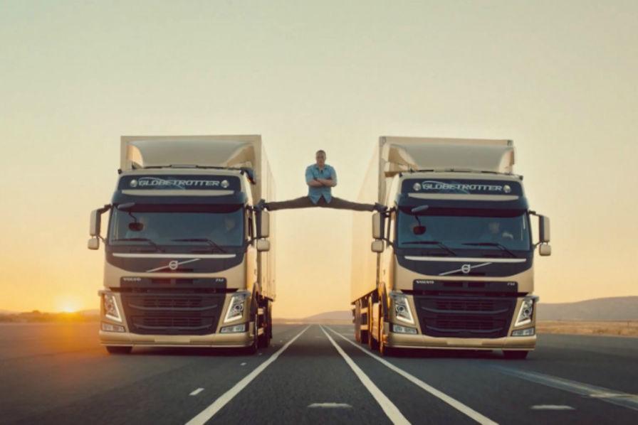 Le grand écart de Jean-Claude Van Damme pour Volvo Trucks