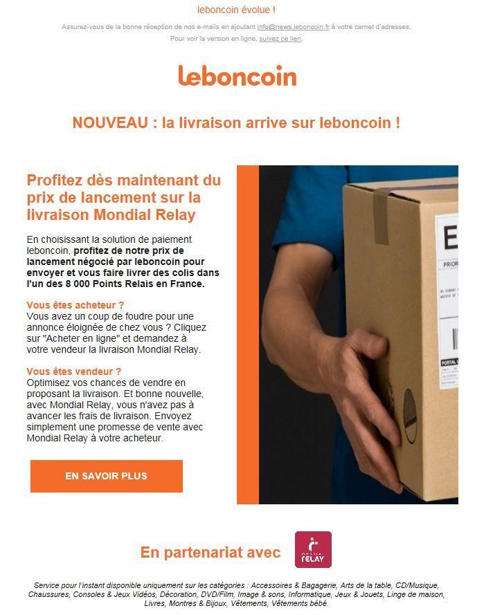 Leboncoin Lance Son Service De Livraison Avec Mondial Relay