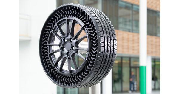 Pneu increvable Michelin, Corsa électrique, drone d'Amazon… L'actu de la semaine en cinq images