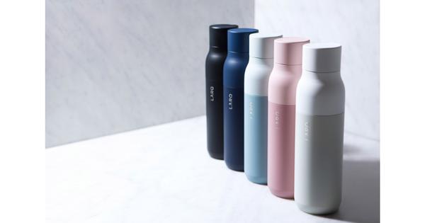 Cette bouteille réutilisable purifie l'eau grâce à la technologie LED UV-C - L'Usine Matières premières