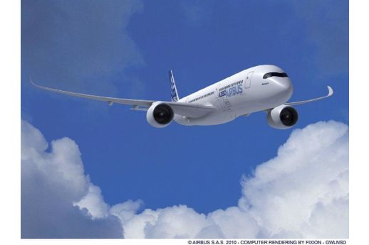 On y croit… au premier vol de l'A 350 au Bourget
