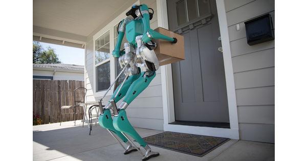 [Video] Un robot bipède dans un véhicule autonome pour livrer les colis au pas de la porte