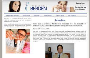 Le site des laboratoires Berden