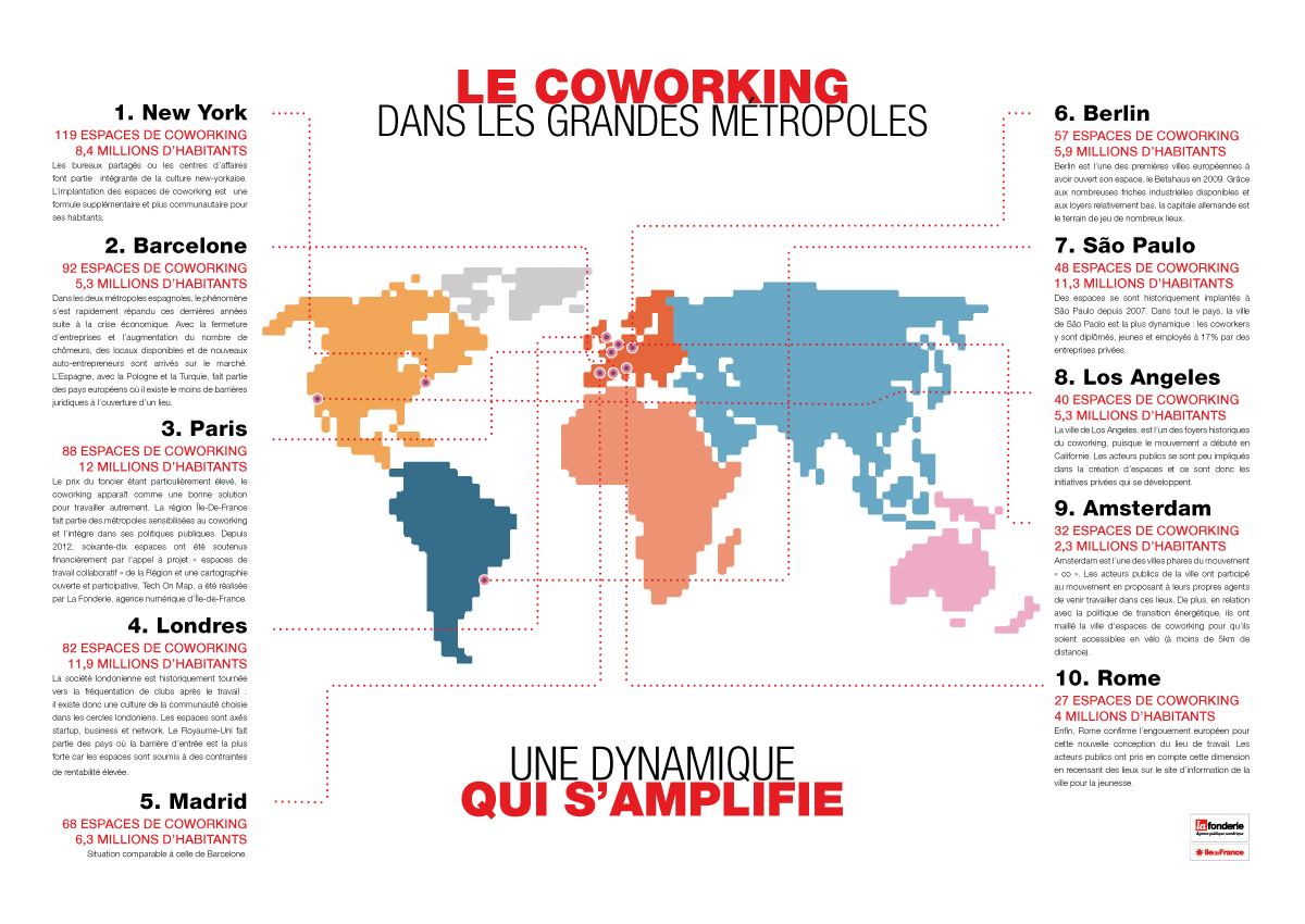 carte l 39 le de france troisi me zone la plus coworking friendly du monde. Black Bedroom Furniture Sets. Home Design Ideas
