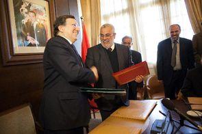 Rencontre Barroso Benkirane à Rabat en mars 2013