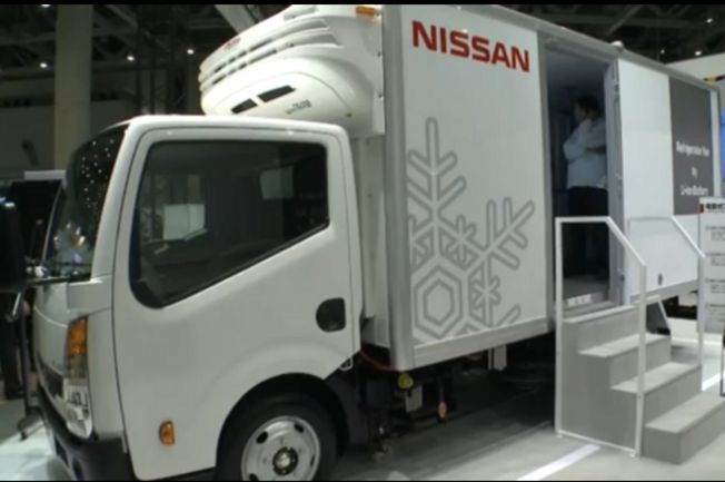nissan utilise la technologie de la leaf dans ses camions l 39 usine auto. Black Bedroom Furniture Sets. Home Design Ideas