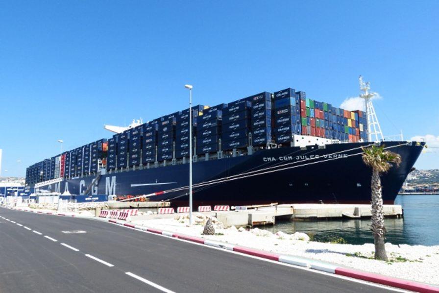 fran 231 ois hollande inaugure le porte conteneurs jules verne de la cma cgm construction navale