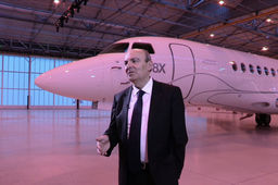 """Le Falcon 8x va faire redécoller Dassault dans l'aviation d'affaires"", assure Eric Trappier, son PDG"