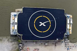 Photo : SpaceX construit une plate-forme d'amerrissage pour son Falcon 9 réutilisable