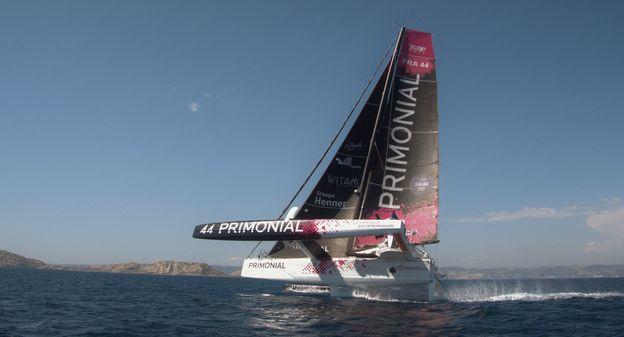 """Le skipper Sébastien Rogues prendra le départ de la Transat Jacques Vabre avec davantage de certitudes grâce au projet """"Bateau qui vole"""", une...-l-instant-tech"""