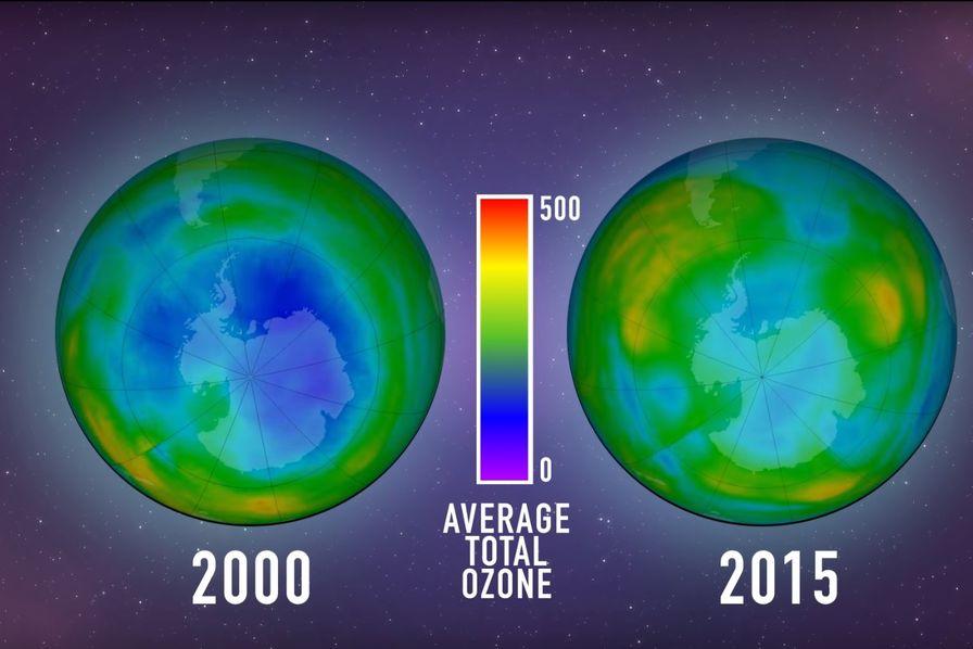 La couche d ozone donne des signes de gu rison la cote carbone - Trou de la couche d ozone ...