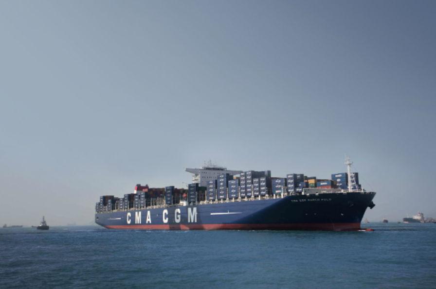 Le plus gros porte conteneurs du monde fait escale au - Le plus gros porte container du monde ...