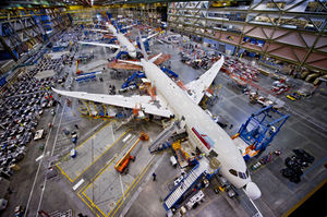 Boeing 787 Dreamliner - Ligne de production - Everett