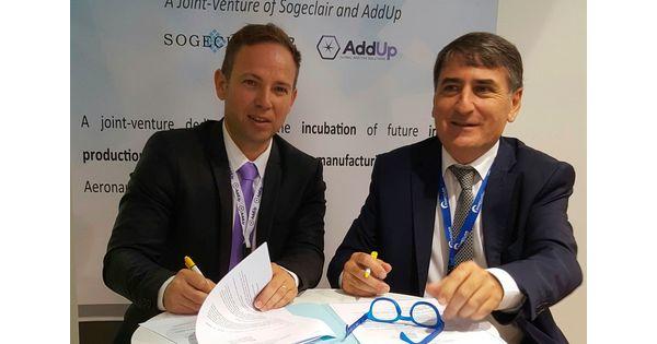 [Bourget 2017] Sogeclair s'associe à AddUp pour accélérer dans la fabrication additive - L'Usine Aéro