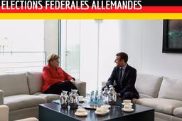 Emmanuel Macron et Angela Merkel en Mars 2017
