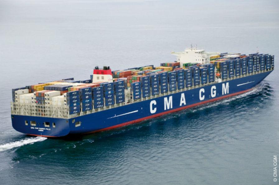 Le plus gros porte conteneurs du monde fait escale au - Le plus gros porte conteneur du monde ...