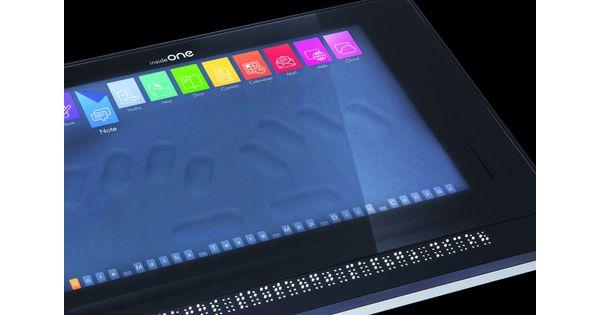 Le Francilien Inside Vision invente la première tablette en braille
