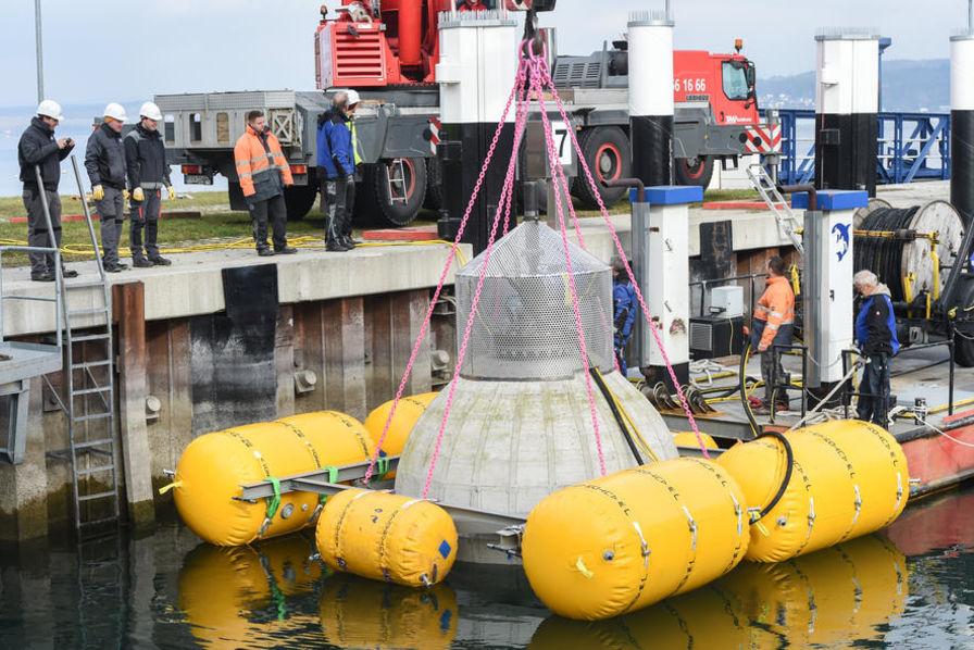 Des sphères géantes pour stocker l'énergie des éoliennes off-shore